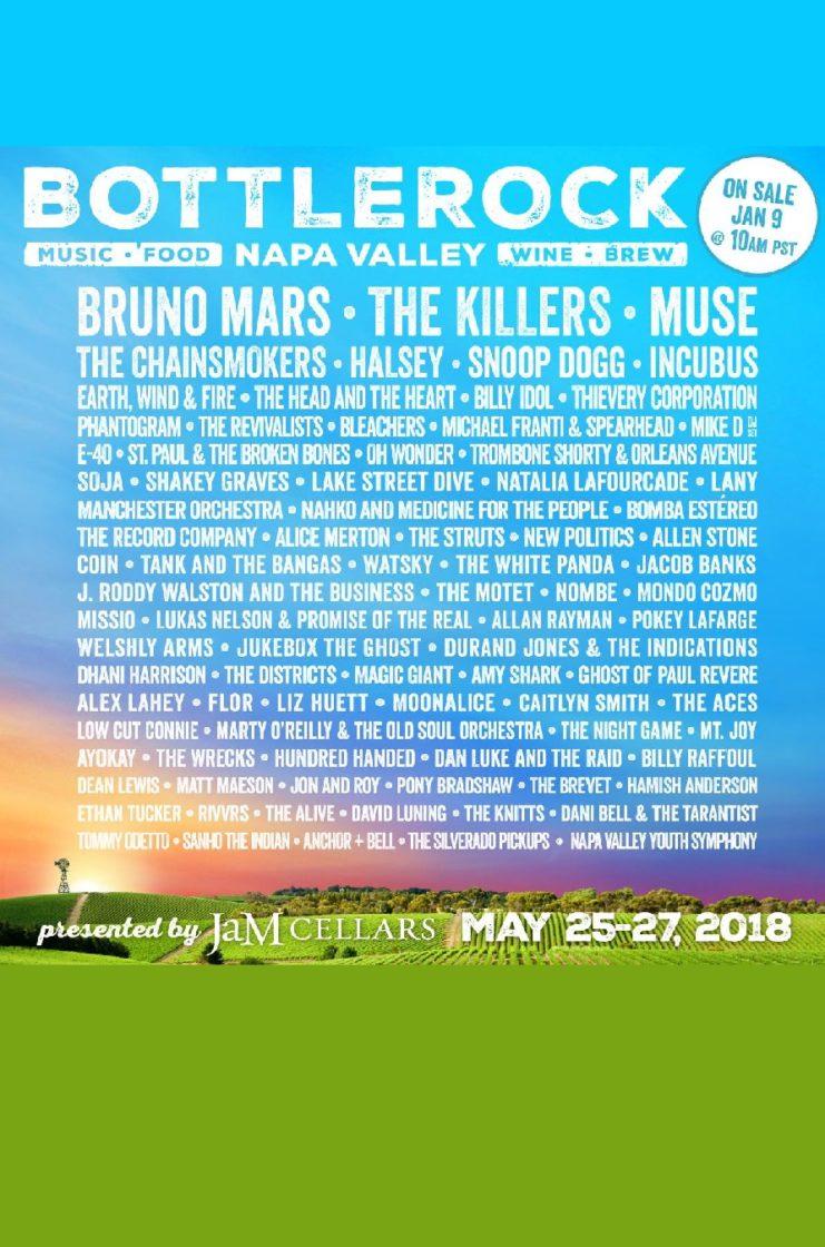 bottlerock napa valley lineup poster admat may 25-27 2018