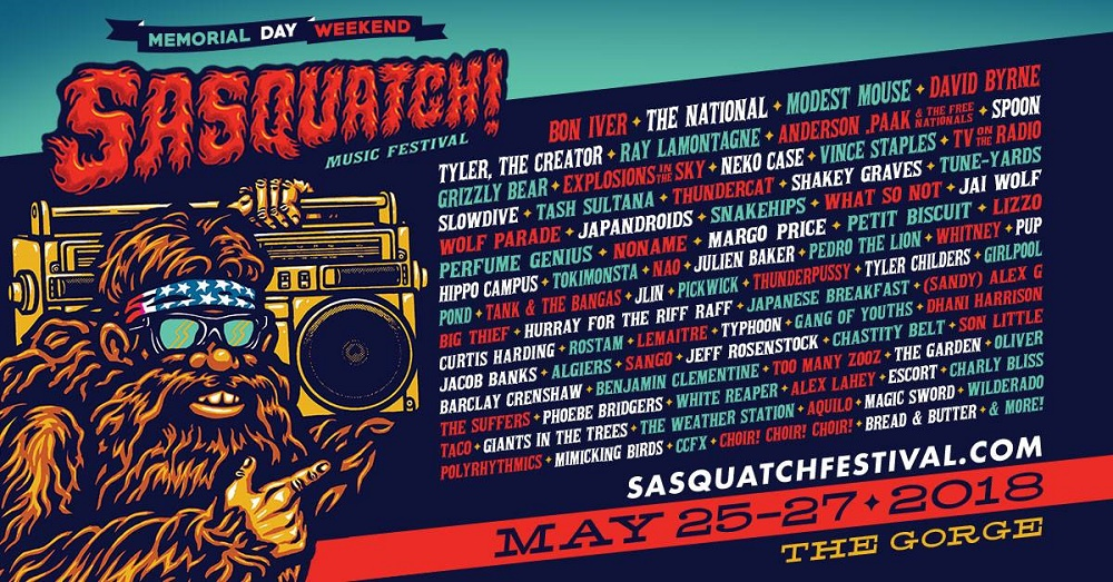 Sasquatch! Music Festival at The Gorge - May 25th, 2018