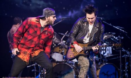 M. Shadows and Synyster Gates of Avenged Sevenfold at Pacific Coliseum in Vancouver, BC on February 17th, 2018