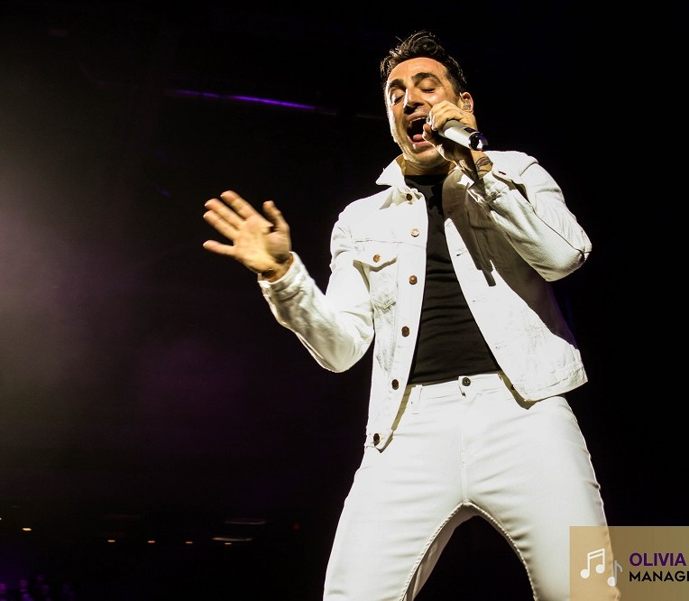Jacob Hoggard of Hedley at Abbotsford Centre in Abbotsford, BC on February 5th 2018