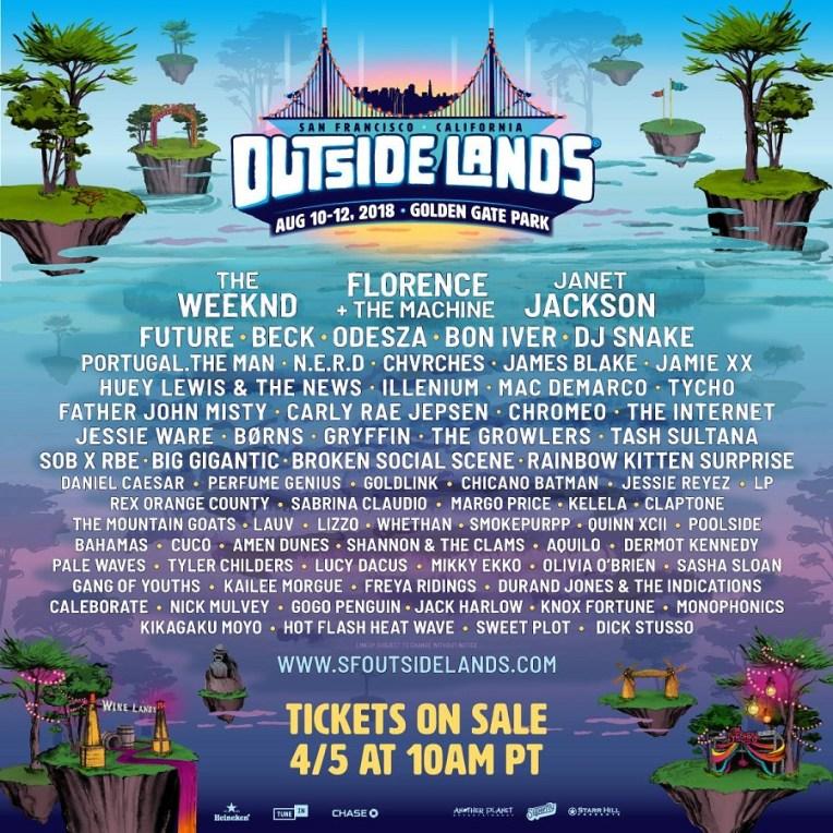 Outside Lands 2018 at Golden Gate Park (San Francisco)