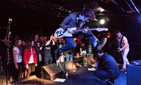 Josh McClorey of The Strypes performing at The Biltmore Cabaret in Vancouver, BC on April 4th 2018