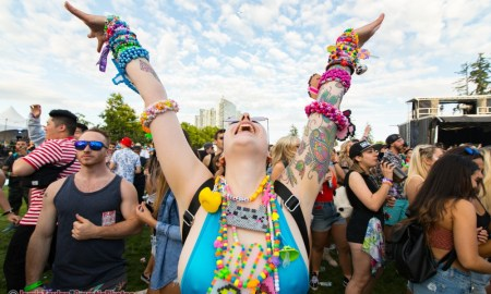 Raver girl at Day 1 of Fvded in the Park in Holland Park in Surrey, BC on July 7th, 2018