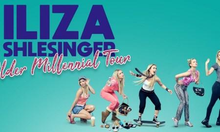 """Elder Millennial Tour"" ft. Iliza Shlesigner 2018 tour poster"