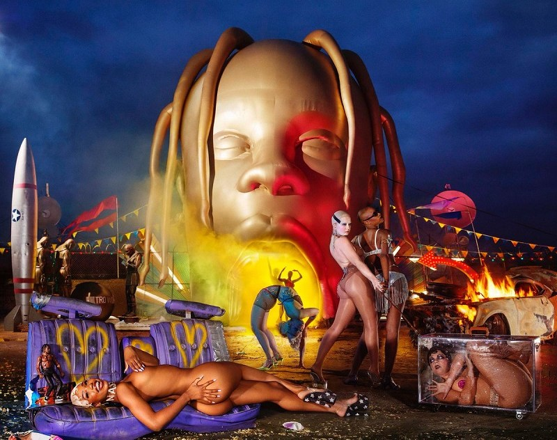 "Travis Scott New Album ""Astroworld"" 2018 cover"