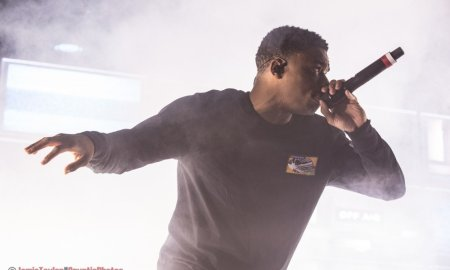 Rapper Vince Staples performing at Safe & Sound Music Fest in New Westminster, BC on August 24th, 2018