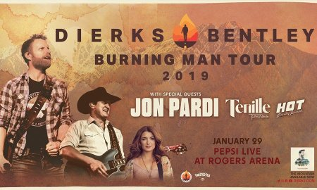 """""""Burning Man Tour"""" ft. Dierks Bentley + Tenille Townes + Jon Pardi + Hot Country Knights at Rogers Arena"""