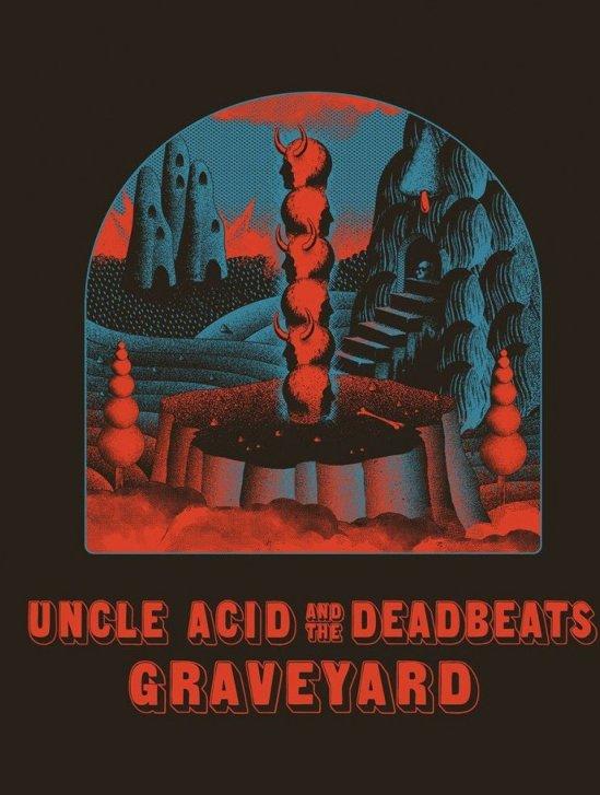 uncle acid & the deadbeats graveyard Peace Across The Wasteland tour 2019 poster
