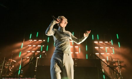 Singer Troye Sivan performing at Queen Elizabeth Theatre in Vancouver, BC on November 8th, 2018