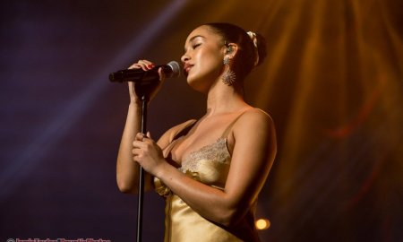 Singer Jorja Smith performing at the Orpheum Theatre in Vancouver, BC on November 20th, 2018