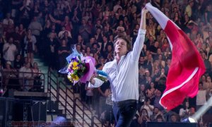 Musician Paul McCartney performing at Rogers Arena in Vancouver, BC on April 20th 2016