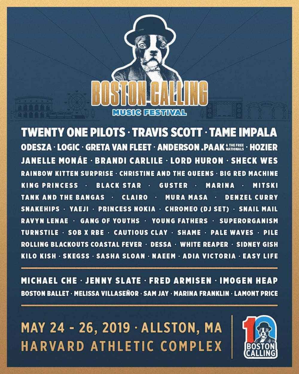 Boston Calling 2019 at Harvard Athletic Complex (Boston) - May 24th, 2019 - poster lineup