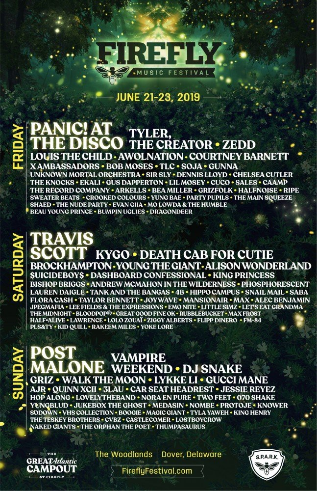 Firefly Music Festival 2019 at The Woodlands (Delaware)