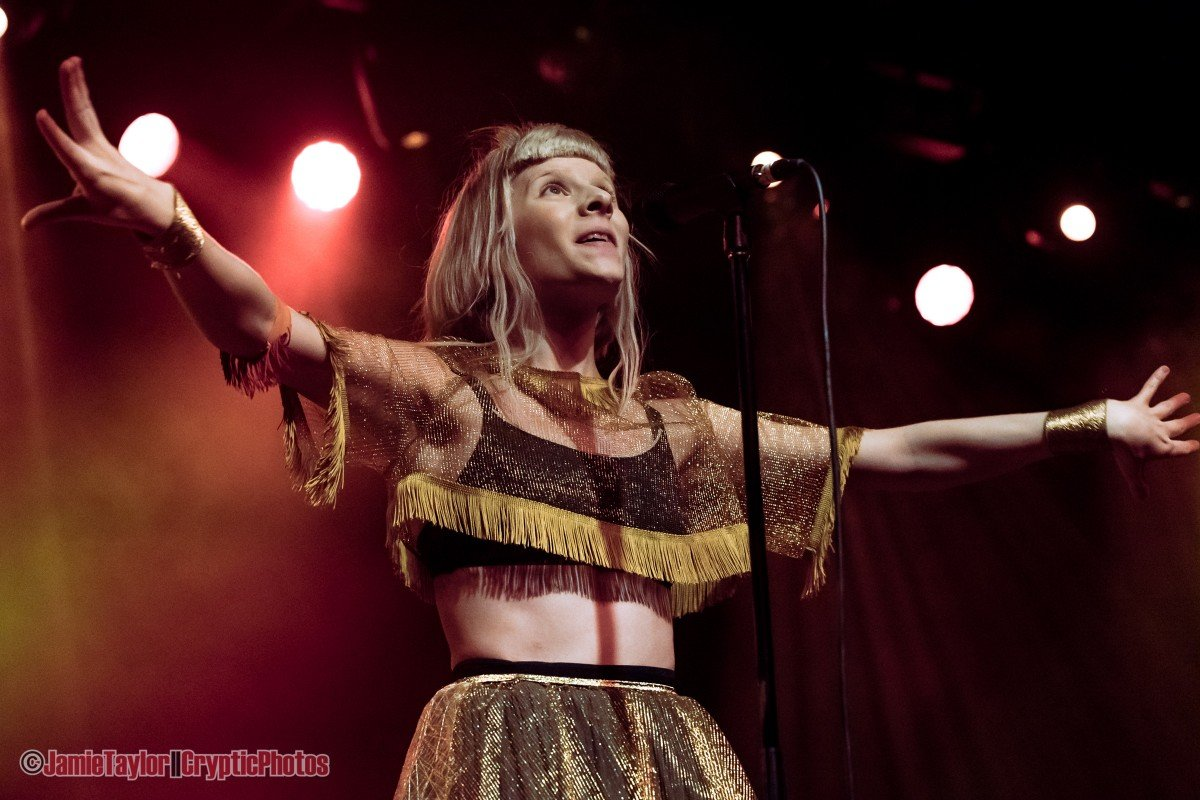 Norwegian singer-songwriter Aurora performing at The Commodore Ballroom in Vancouver, Bc on February 13th, 2019.