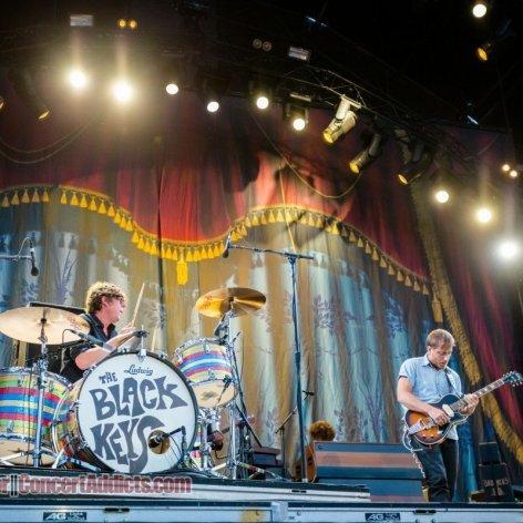 American blues rock band The Black Keys performing at Pemberton Music Festival in Pemberton, BC on July 17th 2015