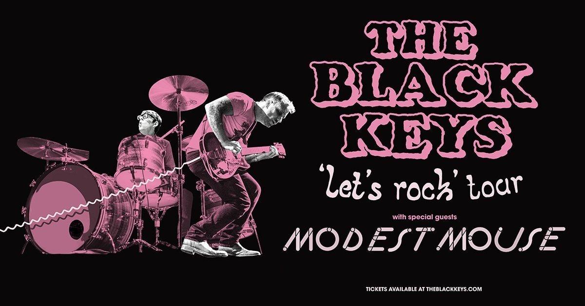 The Black Keys let's rock tour 2019 poster admat banner