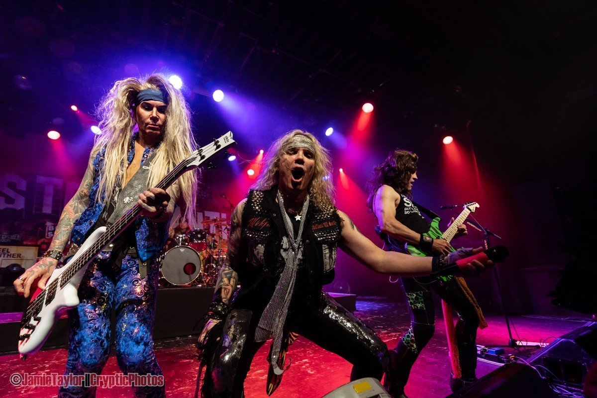 American glam metal band Steel Panther performing at the Commodore Ballroom in Vancouver, BC on April 11th, 2019.
