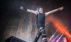 Canadian musician Josh Ramsay of Marianas Trench performing at the Orpheum Theatre in Vancouver, BC on March 29th, 2019