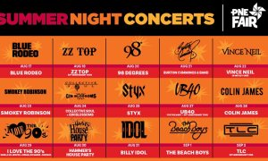 pne summer night concerts 2019 playland lineup poster