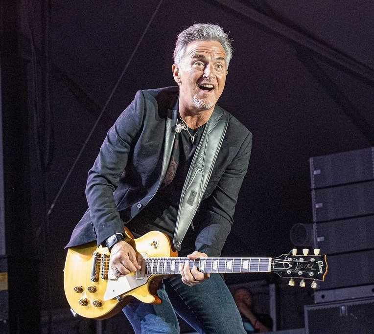 Canadian blues-rock musician Colin James performing at the PNE Amphitheatre in Vancouver, BC on August 28th, 2019.