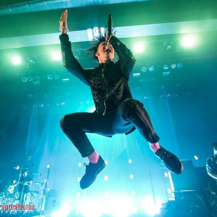 English musician Yungblud performing at the Vogue Theatre in Vancouver, BC on September 11th, 2019