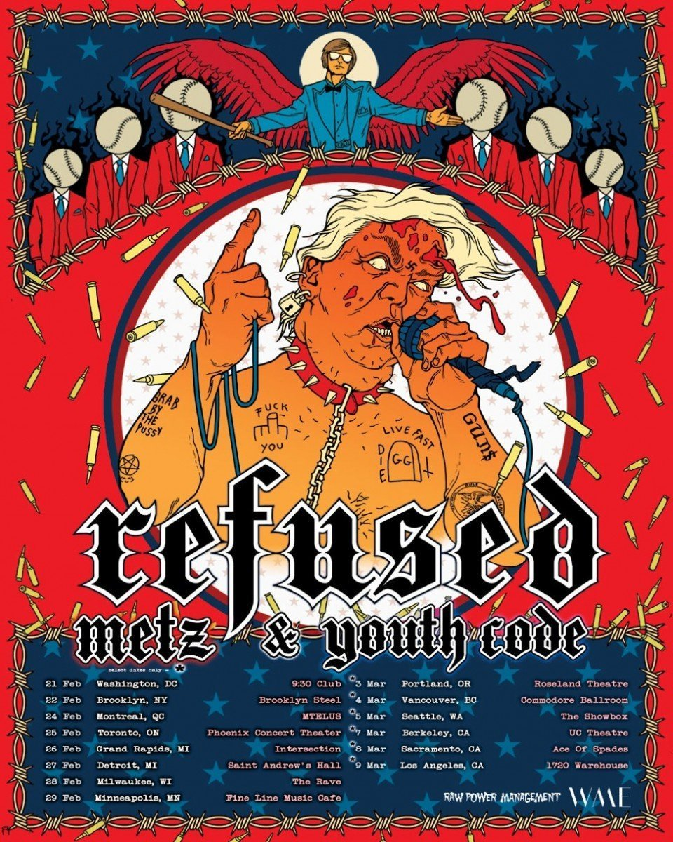 Refused war music 2020 tour poster