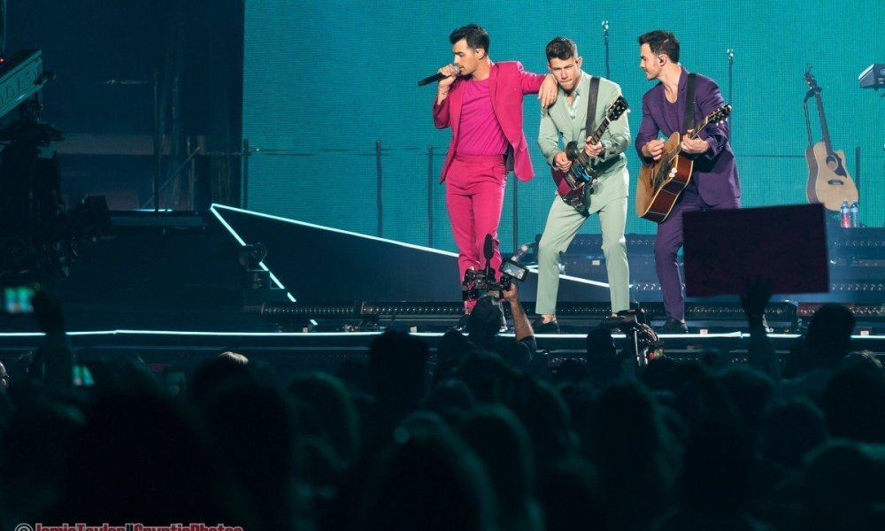 "Photo gallery of American all-brother pop rock band Jonas Brothers performing at Rogers Arena as part of their ""Happiness Begins Tour"" in Vancouver, BC on October 11th, 2019"