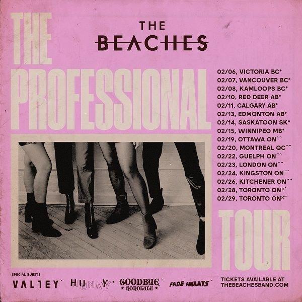 the beaches 2019 tour