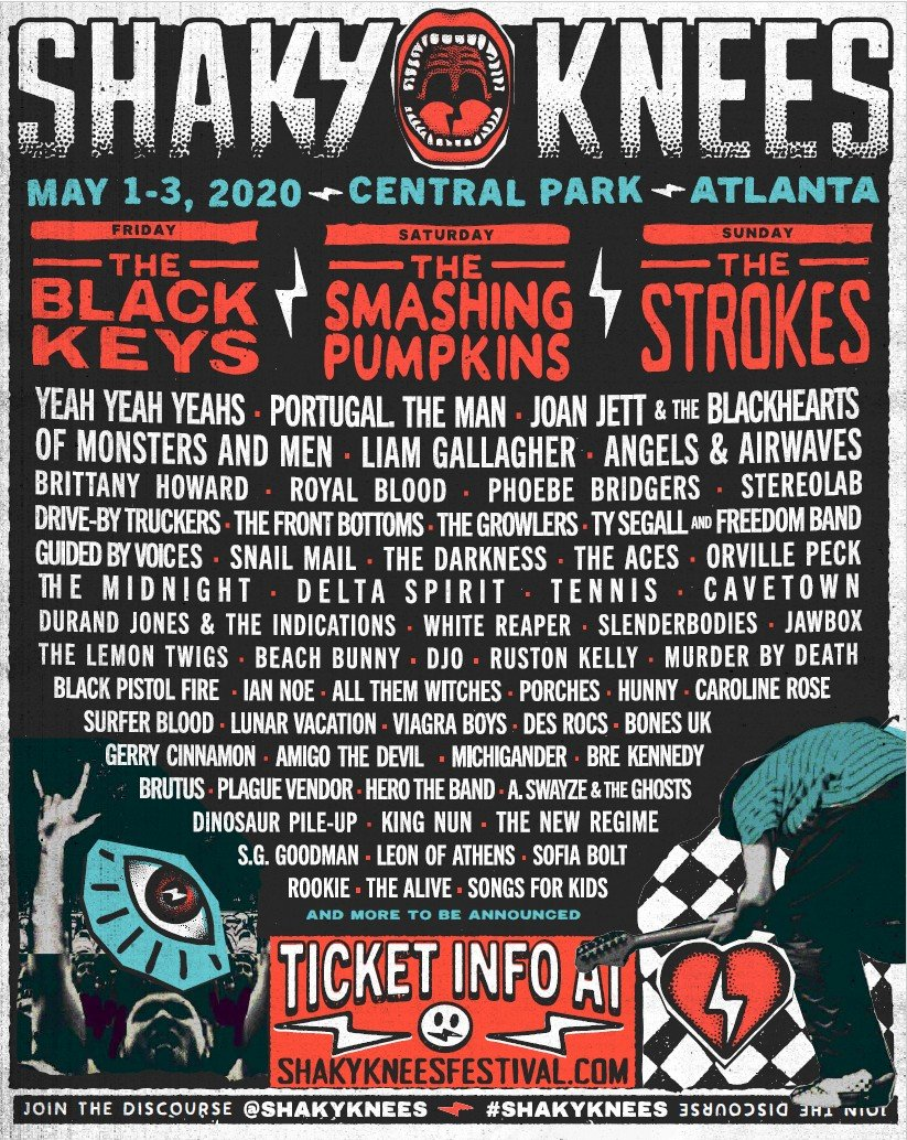 shaky-knees-music-festival-2020-lineup-poster