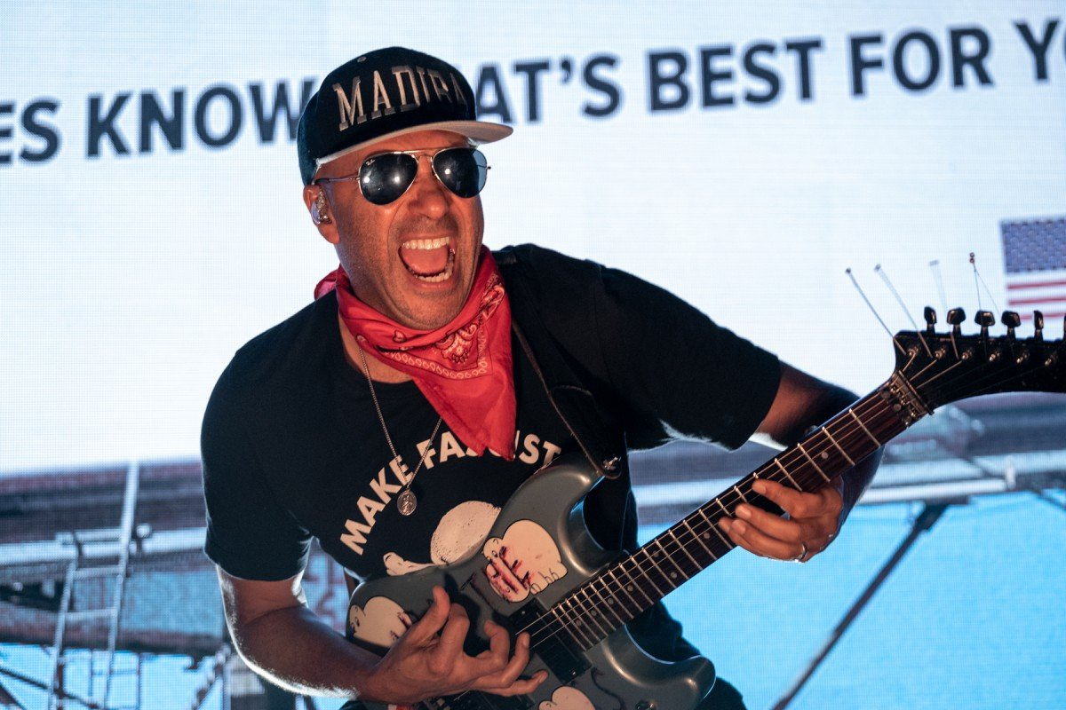 American guitarist and musician Tom Morello performing at The Commodore Ballroom in Vancouver, BC on November 7th, 2019 © Scott Alexander dba Straightfromcamera.com
