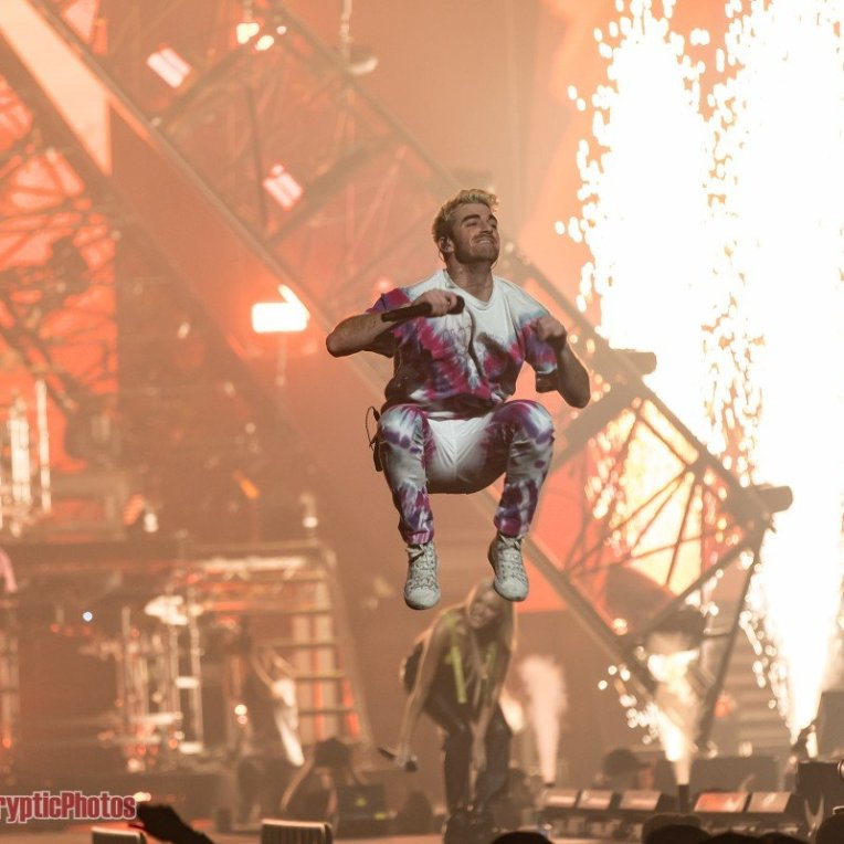 Musician Andrew Taggart of The Chainsmokers performing at Rogers Arena in Vancouver, BC on December 6th 2019