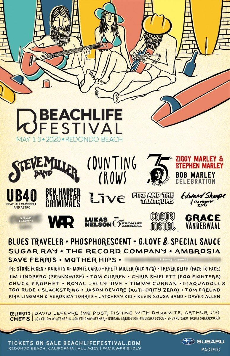 BeachLife Festival 2020 poster lineup admat