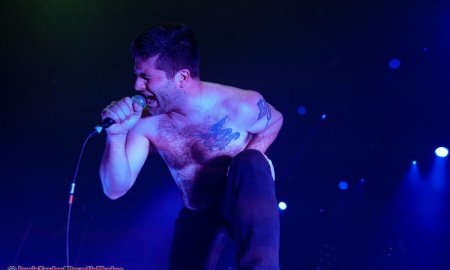 Singer George Pettit of Canadian rock band Alexisonfire performing at the Pacific Coliseum in Vancouver, BC on January 25th 2020
