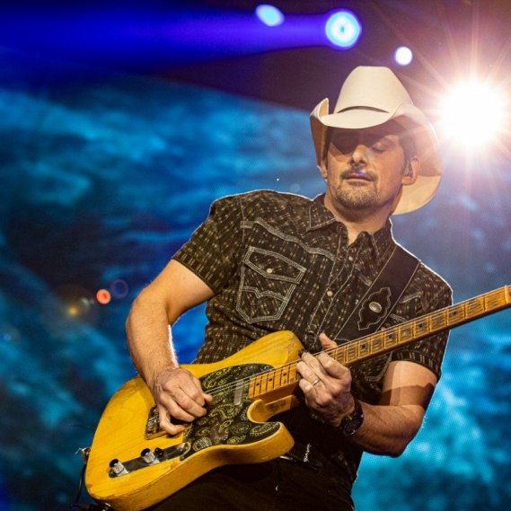 American country guitar god Brad Paisley performing at the Abbotsford Centre in Abbotsford, BC on March 7th, 2020