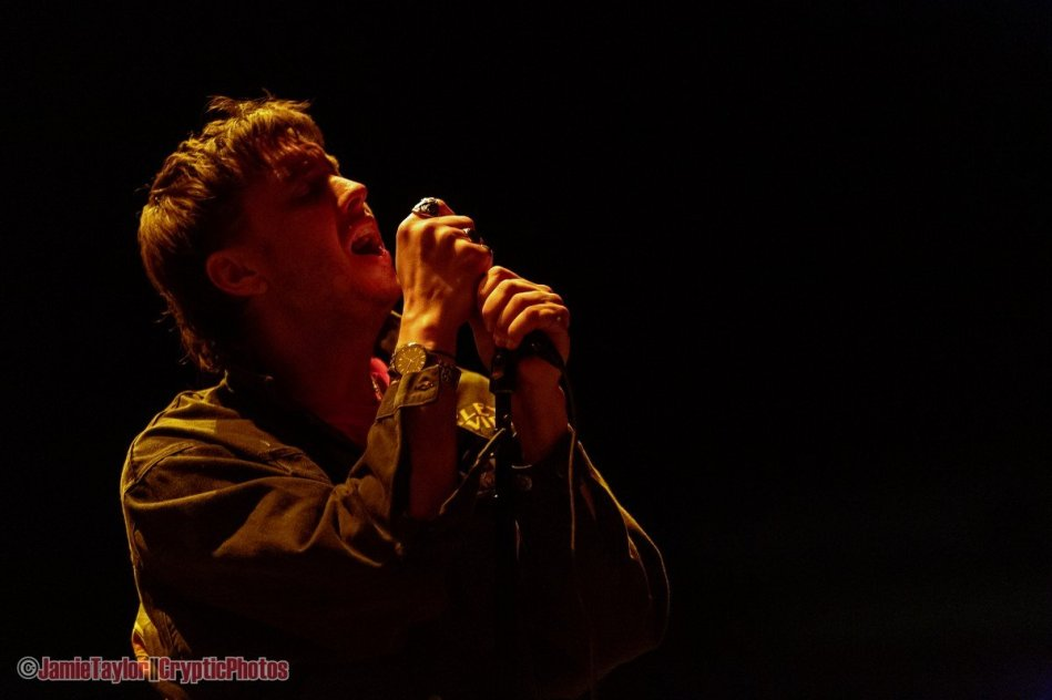 Lead singer Julian Casablancas of American rock band The Strokes performing at Rogers Arena in Vancouver, BC on March 5th 2020