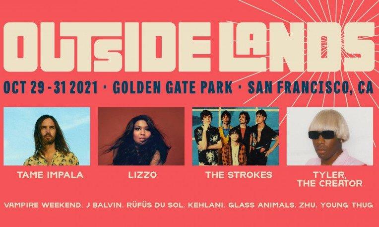 outside lands golden gate park 2021 music festival title banner ad