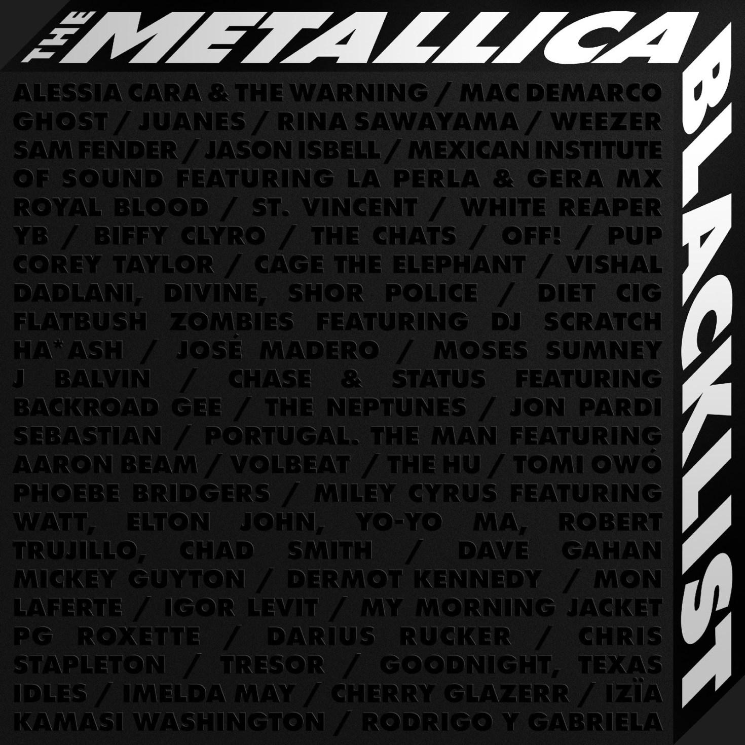 THE METALLICA BLACKLIST ALBUM 2021 cover art
