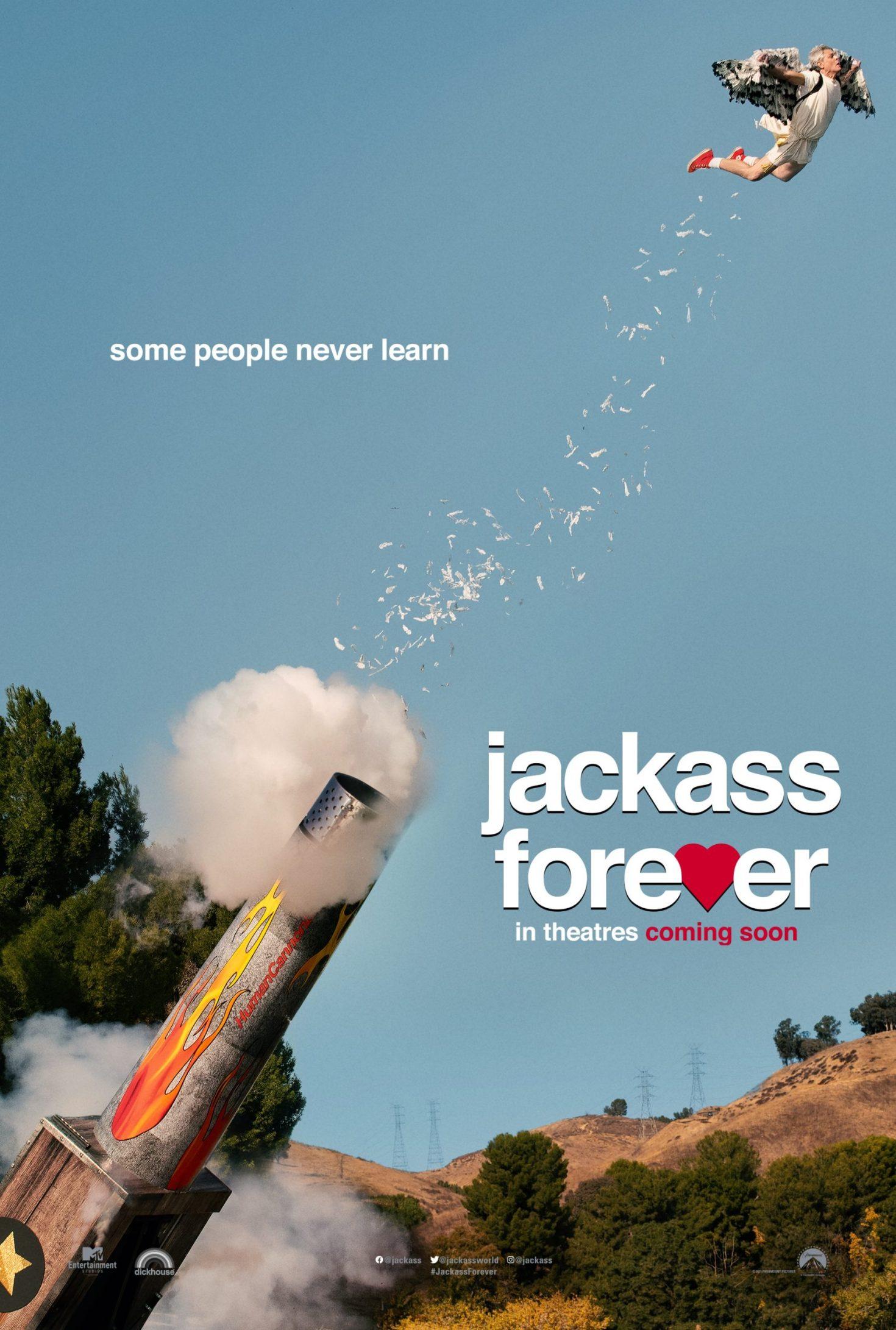 """Jackass Forever"" [2021] movie poster cover art"