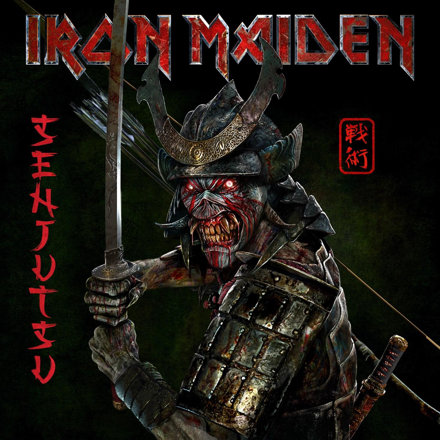 IRON MAIDEN  2021 album SENJUTSU cover art