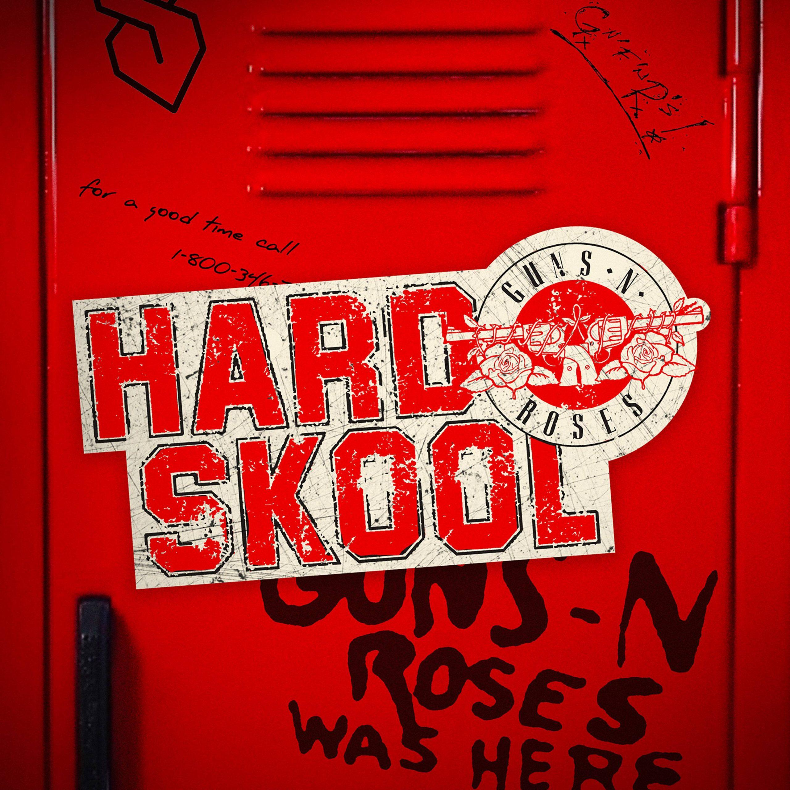 guns n roses hard skool song 2021 release cover art