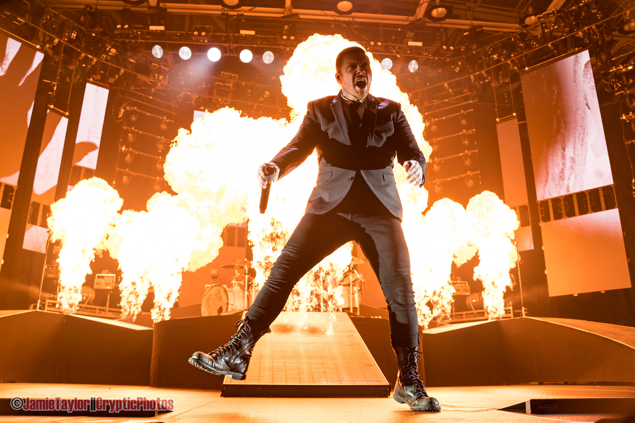 Shinedown performing at Abbotsford Centre in Abbotsford, BC on October 16th 2019