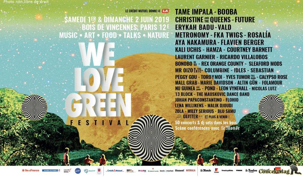 affiche web home - We Love Green : Le rendez-vous incontournable de l'été