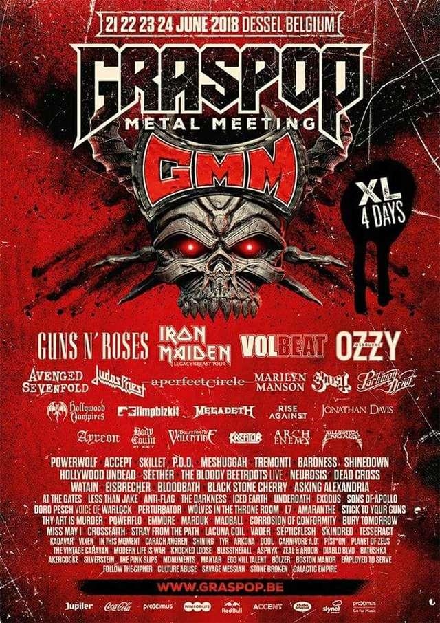 Agenda Concerts Metal Graspop Metal Meeting 2018 2106
