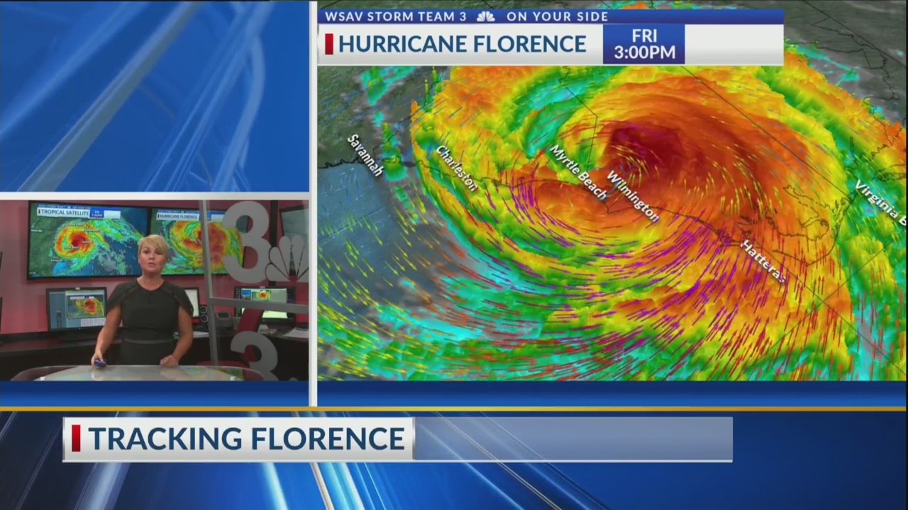 Friday 3:00 pm update on Hurricane Florence