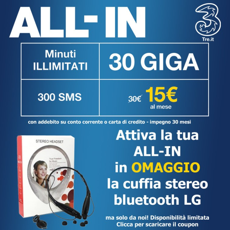 All in 3 con regalo!