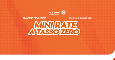 Da Expert sono arrivate le Mini Rate a tasso 0