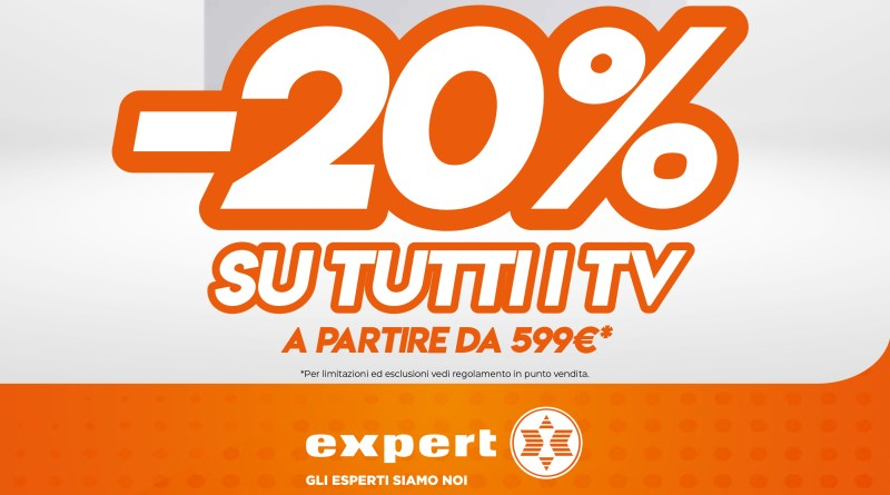 Orange Days Expert, sconto 20% su tutti i tv da 599€