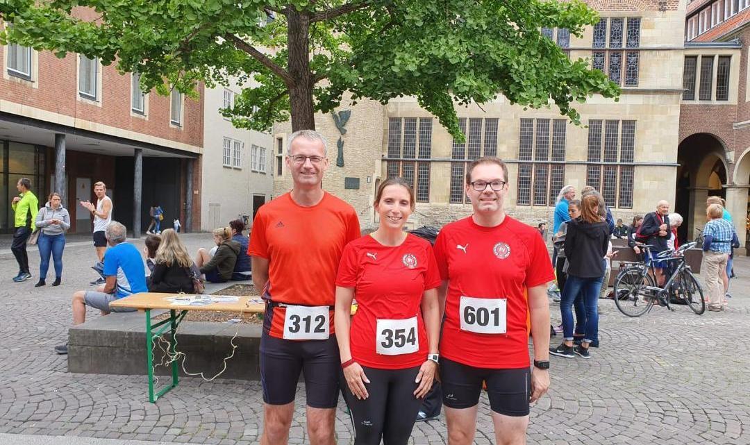 Concordia Laufgruppe beim ZfS-Münster-City-Run am Start