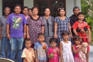 Some of the members of the Lutheran congregation in Kok Kloi, Thailand.