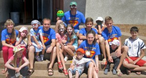 Children learned about God's love during a vacation Bible school in Ukraine.